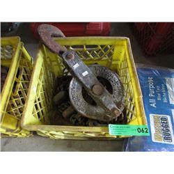 Vintage Chain Block & Chain