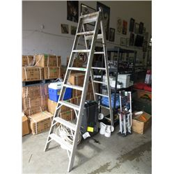 8 Foot Three Way Aluminum Ladder
