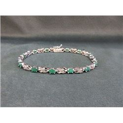 5.2 CT Emerald & Diamond Tennis Bracelet