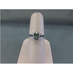 Mystic Topaz, Sapphire & Diamond Ring