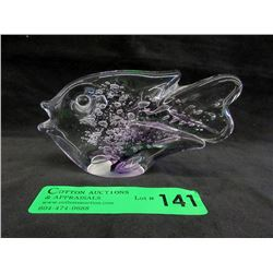 Signed Hot Island Glass Trigger Fish