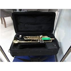 Brass Trumpet in Fitted Case - With Mouthpiece