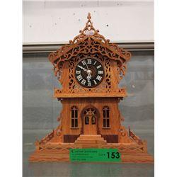 Carved Wood Pendulum Clock