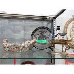 Large Glazed Ceramic Crocodile Ashtray & More