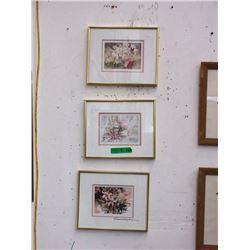 3 Framed Prints - Various Artists
