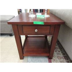 New End Table with Drawer & Shelf