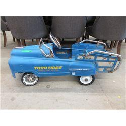 Vintage Team Toyo Children's Pedal Car