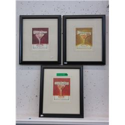 3 Framed Bar Art