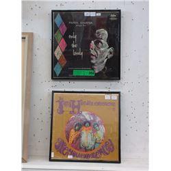 2 Framed Vinyl LP Original Pressings