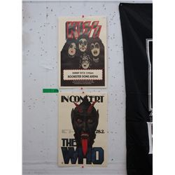 The Who & KISS Concert Posters