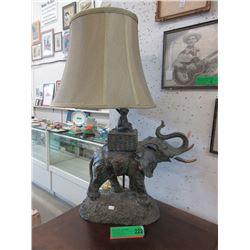 Elephant Table Lamp - Damaged Tusk