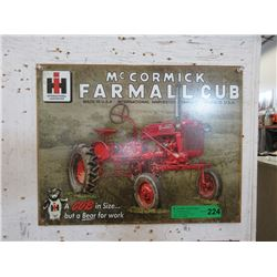 New International Harvester Tin Sign