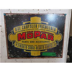 New Mopar Harvester Tin Sign