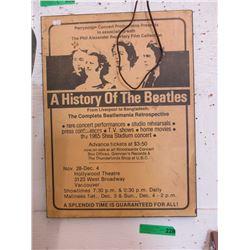 1965 Advertisement for Beatlemania Retrospective