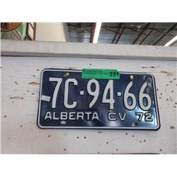 Pair of 1972 Alberta License Plates