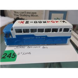 1950s Midge Toy Die-Cast Jumbo Bus Line Bus