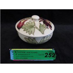 Moorcroft Columbine Lidded Bowl