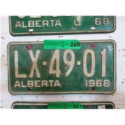 Pair of 1968 Alberta License Plates