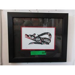 Framed Richard Shorty Print - Wolf