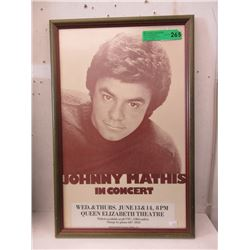 1979 Johnny Mathis Framed Poster