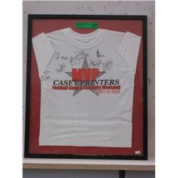 Framed 2005 MVP Football Camp Tee Shirt
