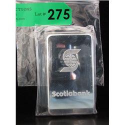 10 Oz. ScotiaBank .999 Silver Bar