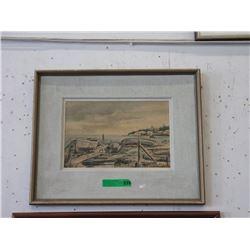 Framed Vintage Gail McCanche Print