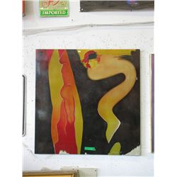 1998 Lacquer on Board Wall Art