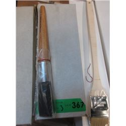 3 Dozen New Birch Handled Artists Paint Brushes