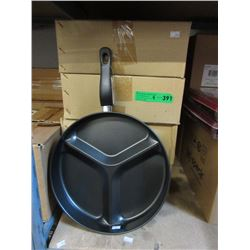 4 Cases of New Sectioned Frying Pans