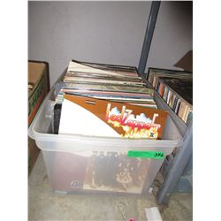 Tote of Vintage LP Records