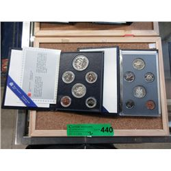 2 Canadian Mint Specimen Coin Sets - 1991 & 1982