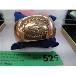 Southwestern Copper Cuff Bracelet - Signed & Dated