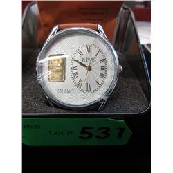 Men's New in Box August Steiner Gold Ingot Watch