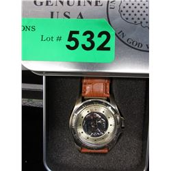 New in Tin Box August Steiner Coin Watch