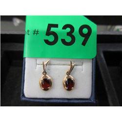 10 KT Gold and Garnet Earrings