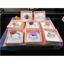 8 New Gemstone Rings