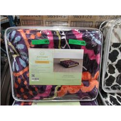 New Queen Size Multi Colour Sherpa Blanket