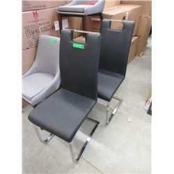 Pair of New Stylus Leather Like Dining Chairs