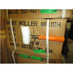 """Case of 5 New 5"""" Paint Roller Brushes"""