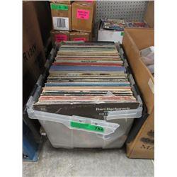 Tote of Vintage LP Records