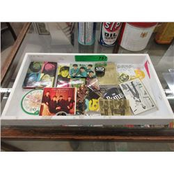 Tray of Beatles Collectibles