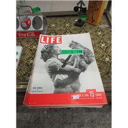 13 Vintage Life Magazines - 1940s & Up