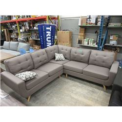 New Retro Style Fabric Sectional