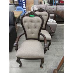 Pair of New Ornate Dining Chairs