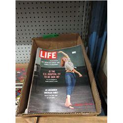Box of Vintage Life Magazines - '60s & Up