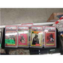 Six 1980's Star Wars Trading Cards - All Graded