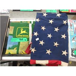 50 Star American Flag and John Deere Fabric