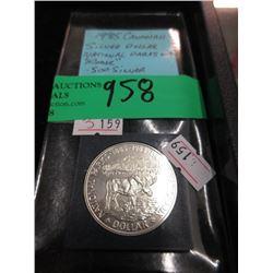 1985 Canadian Silver Dollar Coin - .500 Silver