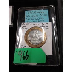 1996 Rivera  Vegas $10 Ltd. Edition Gaming Token